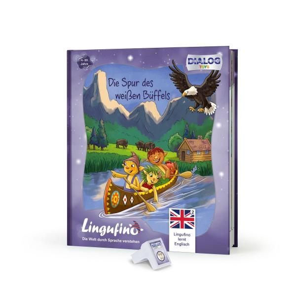 Lingufno lernt Englisch Büffel Buch und Stick