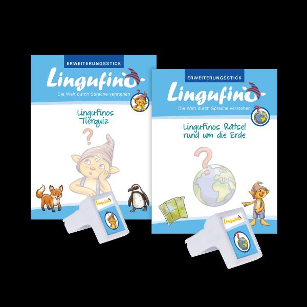 Bundle Lingufinos Tierquiz + Rätsel um die Erde